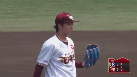 【ファーム】イーグルス・高田 移籍後初マウンドで最初の打者を三振に仕留める!! 2020/7/20 E-S(ファーム)