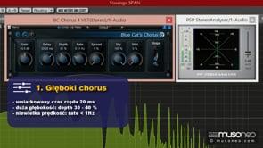 Cztery różne efekty typu chorus