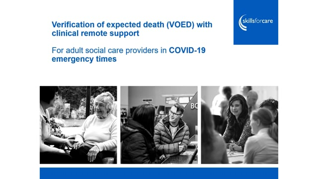 6718 Verification of expected death with clinical remote support