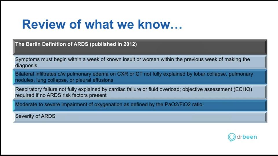 ARDS - Management of Patients