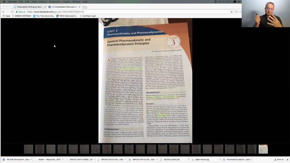 Pharmacokinetics: Chamberlain School Review (part 1)
