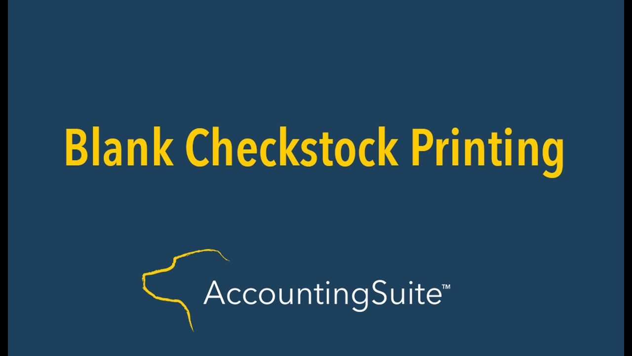 Blank Check Stock Printing