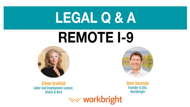Remote I-9 Legal Questions and Answers Video