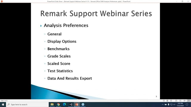 Remark Office OMR Analysis Preferences
