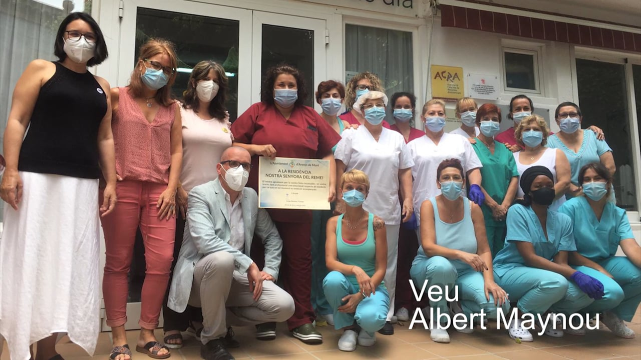 Homenatge al personal de les residències per la seva tasca durant la pandèmia de la COVID-19
