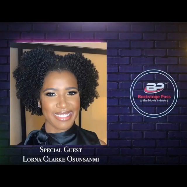 Special Guest, TV Writer, Lorna Clarke Osunsanmi