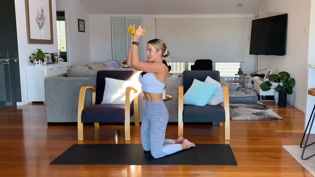 30min body weight and dumbbell upper body workout