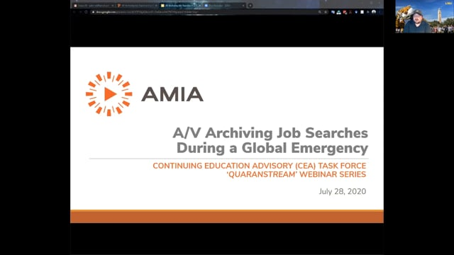 A/V Archiving Job Searches in a Global Emergency