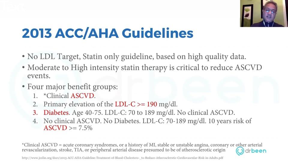(Webinar) Dyslipidemia Management-ACC/AHA guideline Overview