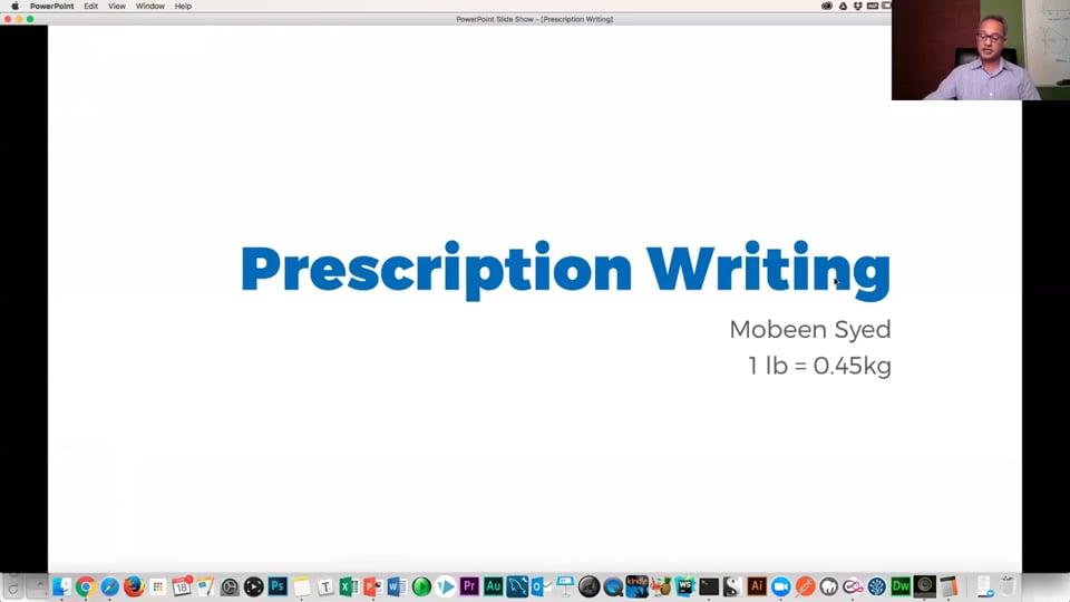 Primary Care: Prescription Writing