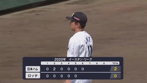 【ファーム】マリーンズ・成田 4番を封じ込める投球で追加点を許さず!! 2020/8/1 M-F(ファーム)