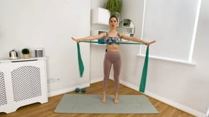 Full body workout (with Long Band and Light Weights)