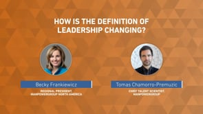 How is the definition of leadership changing?