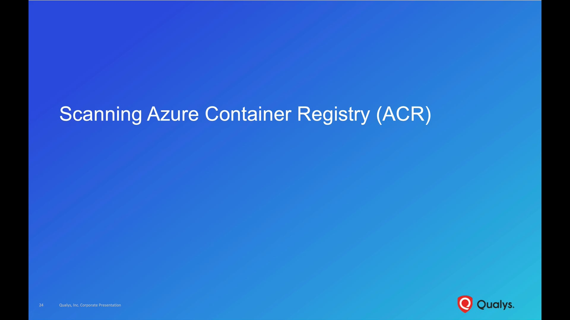Scanning Azure Container Registry (ACR)