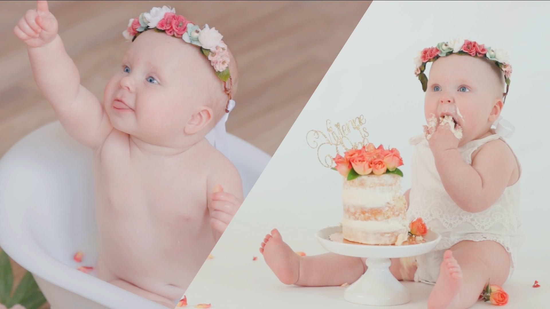 Cake Smash and Bath Time - Sugar Baby Photography