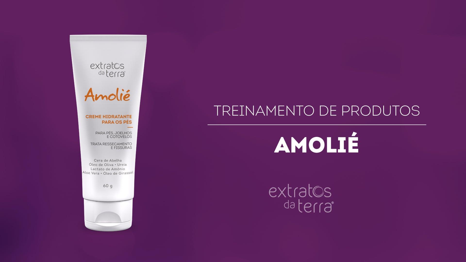 Conhecendo o Produto - Amolié creme hidratante para os pés
