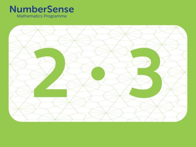 NumberSense Manipulating Numbers: Level 2, Task 3 (Gr.1, T.2, Wkbk 2)