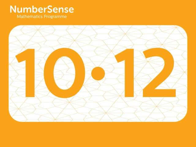 NumberSense Manipulating Numbers: Level 10, Task 12 (Gr.3, T.2, Wkbk 10)