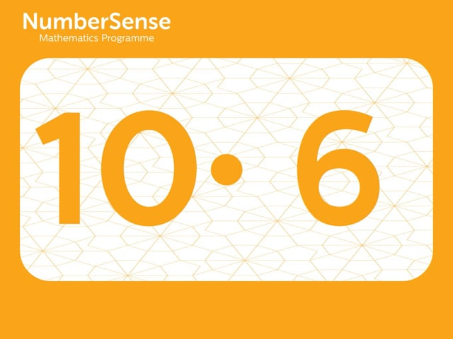 NumberSense Manipulating Numbers: Level 10, Task 6 (Gr.3, T.2, Wkbk 10)