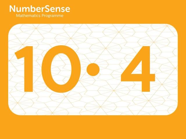 NumberSense Manipulating Numbers: Level 10, Task 4 (Gr.3, T.2, Wkbk 10)
