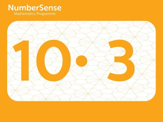 NumberSense Manipulating Numbers: Level 10, Task 3 (Gr.3, T.2, Wkbk 10)