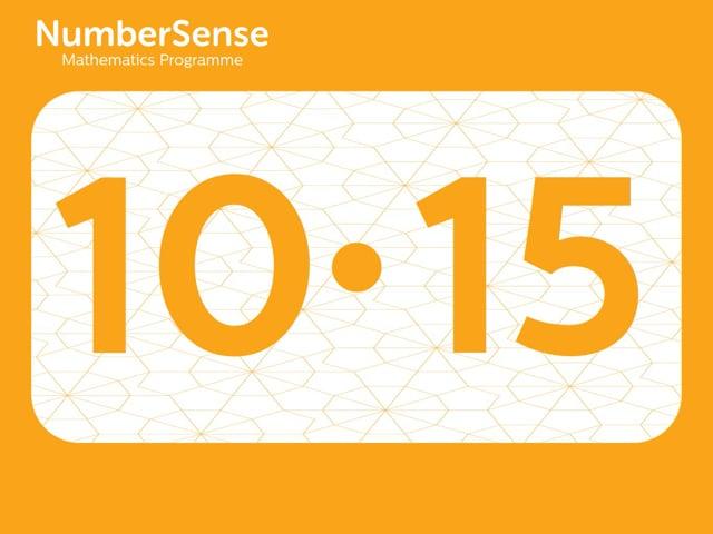 NumberSense Manipulating Numbers: Level 10, Task 15 (Gr.3, T.2, Wkbk 10)