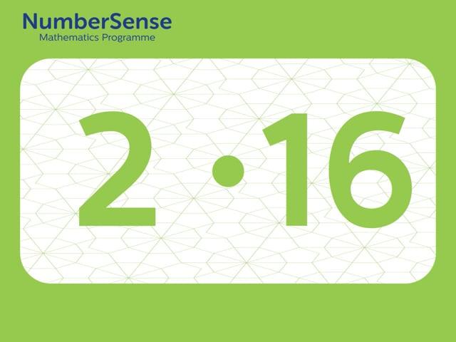 NumberSense Manipulating Numbers: Level 2, Task 16 (Gr.1, T.2, Wkbk 2)