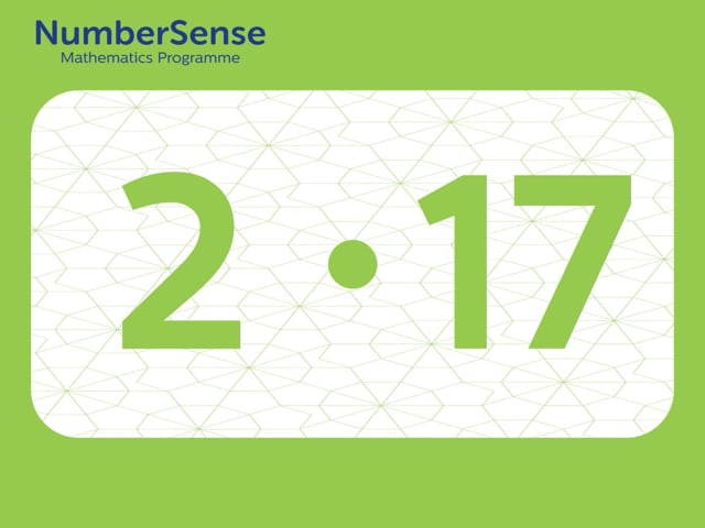 NumberSense Manipulating Numbers: Level 2, Task 17 (Gr.1, T.2, Wkbk 2)