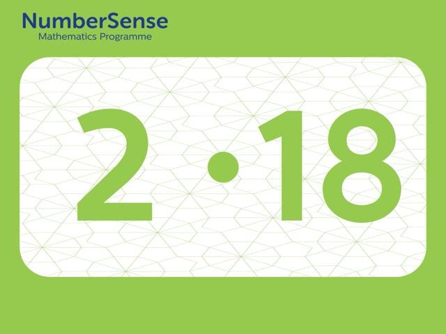 NumberSense Manipulating Numbers: Level 2, Task 18 (Gr.1, T.2, Wkbk 2)