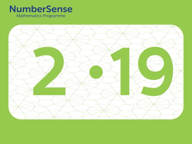 NumberSense Manipulating Numbers: Level 2, Task 19 (Gr.1, T.2, Wkbk 2)