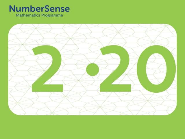 NumberSense Manipulating Numbers: Level 2, Task 20 (Gr.1, T.2, Wkbk 2)