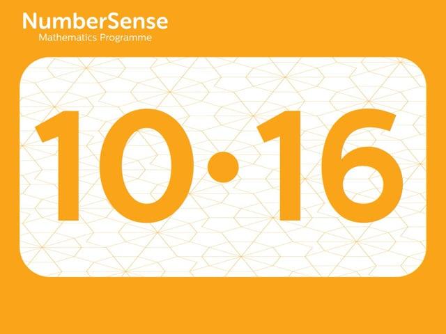 NumberSense Manipulating Numbers: Level 10, Task 16 (Gr.3, T.2, Wkbk 10)