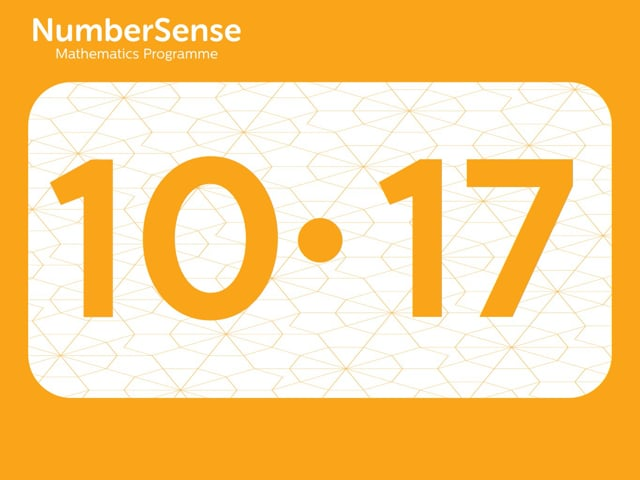 NumberSense Manipulating Numbers: Level 10, Task 17 (Gr.3, T.2, Wkbk 10)