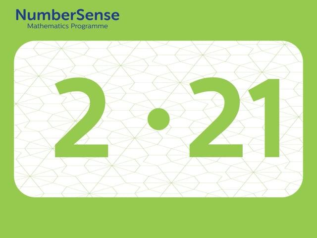 NumberSense Manipulating Numbers: Level 2, Task 21 (Gr.1, T.2, Wkbk 2)