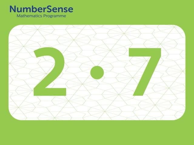 NumberSense Manipulating Numbers: Level 2, Task 7 (Gr.1, T.2, Wkbk 2)