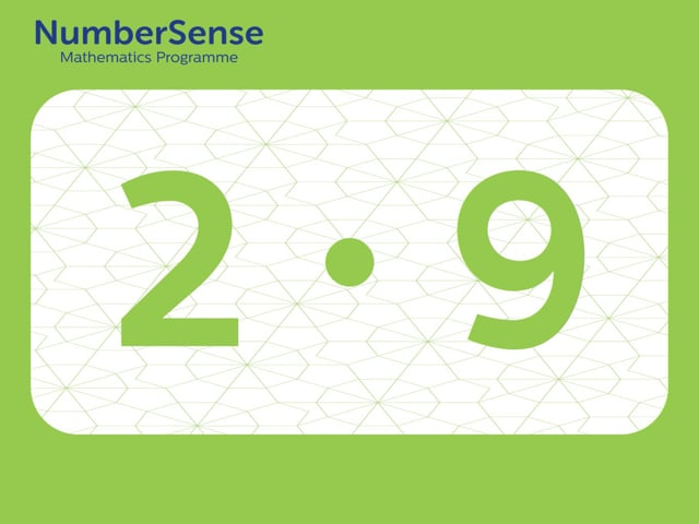 NumberSense Manipulating Numbers: Level 2, Task 9 (Gr.1, T.2, Wkbk 2)