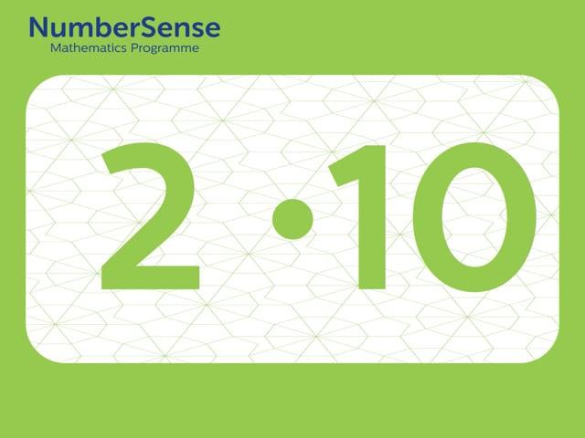 NumberSense Manipulating Numbers: Level 2, Task 10 (Gr.1, T.2, Wkbk 2)