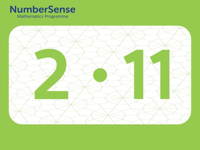 NumberSense Manipulating Numbers: Level 2, Task 11 (Gr.1, T.2, Wkbk 2)