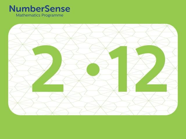 NumberSense Manipulating Numbers: Level 2, Task 12 (Gr.1, T.2, Wkbk 2)