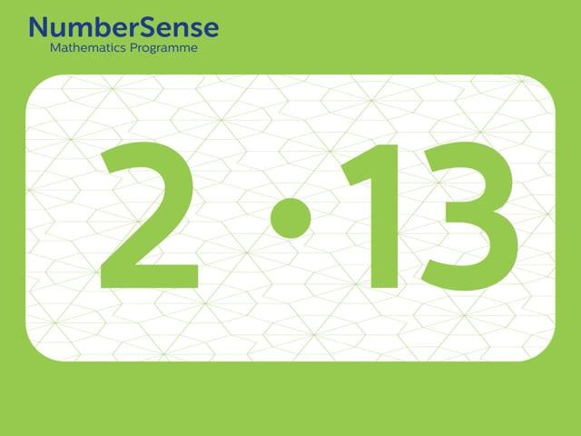 NumberSense Manipulating Numbers: Level 2, Task 13 (Gr.1, T.2, Wkbk 2)