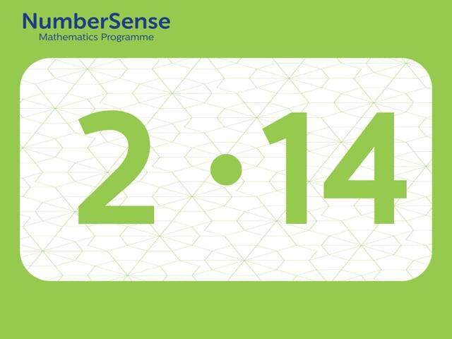 NumberSense Manipulating Numbers: Level 2, Task 14 (Gr.1, T.2, Wkbk 2)