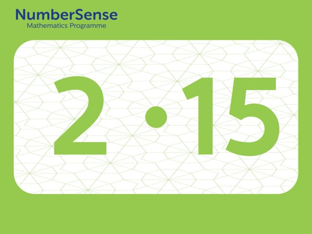NumberSense Manipulating Numbers: Level 2, Task 15 (Gr.1, T.2, Wkbk 2)