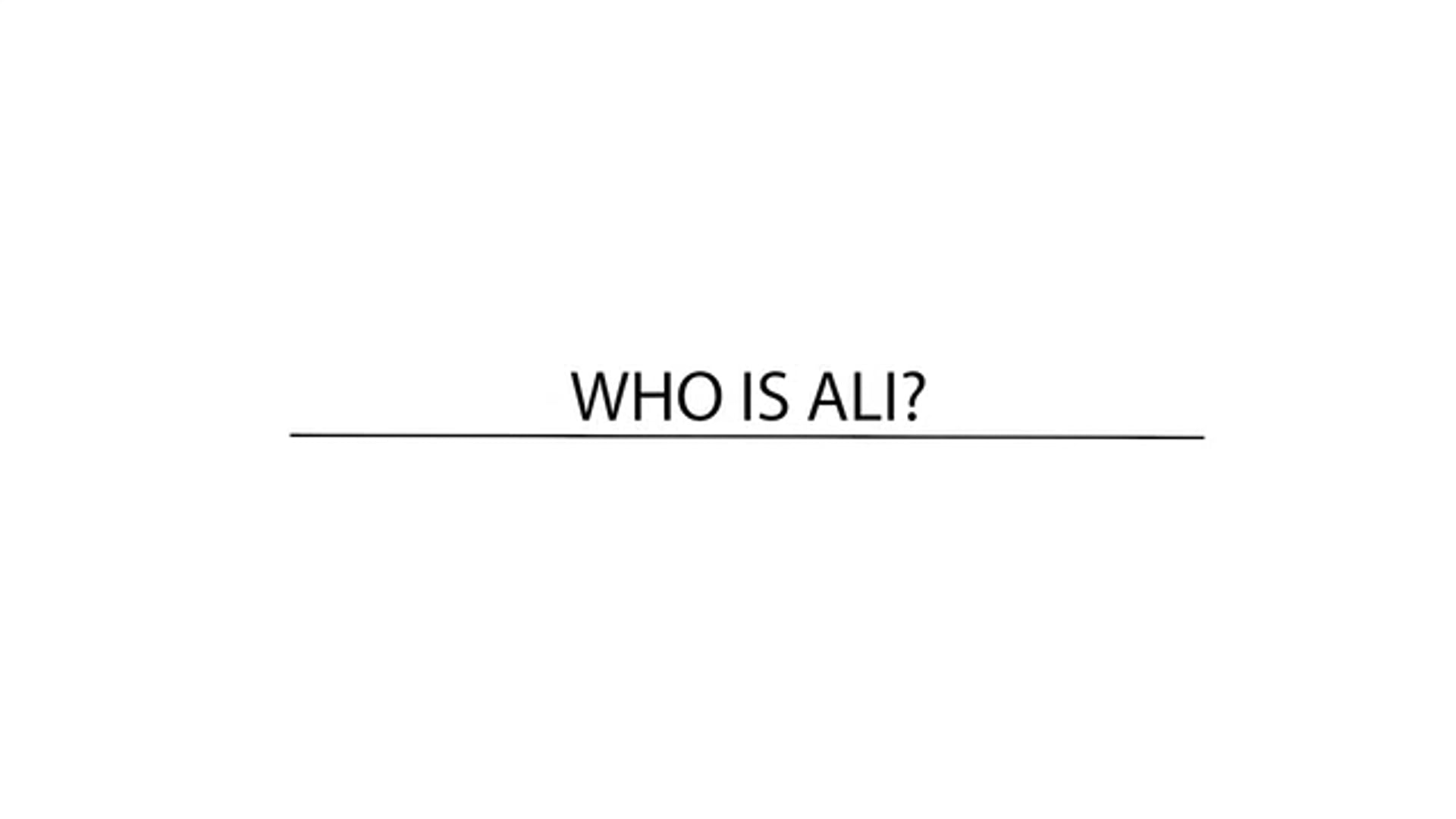 Who Is Ali