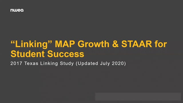 Linking Texas MAP Growth to STAAR