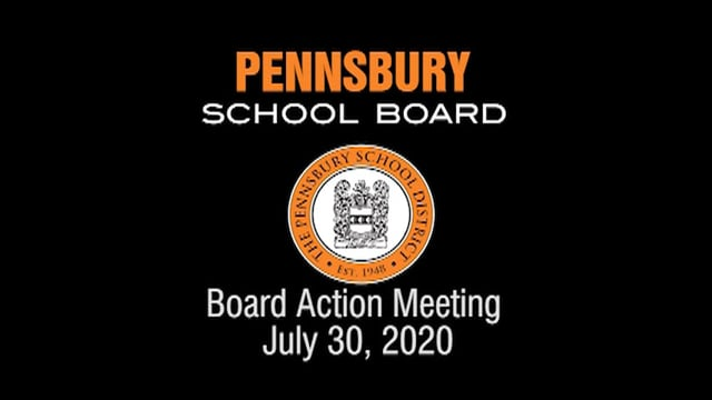 Pennsbury School Board Meeting for July 30, 2020