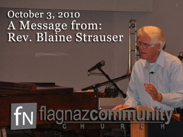 A Message From Rev. Blaine Strauser