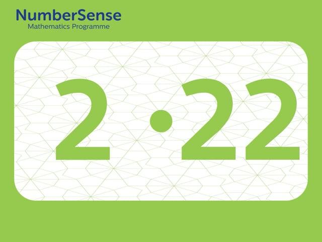 NumberSense Manipulating Numbers: Level 2, Task 22 (Gr.1, T.2, Wkbk 2)