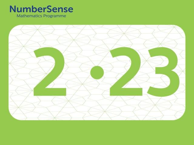 NumberSense Manipulating Numbers: Level 2, Task 23 (Gr.1, T.2, Wkbk 2)