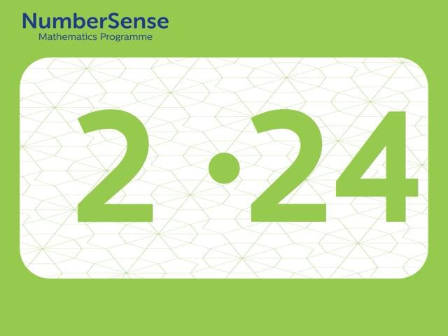 NumberSense Manipulating Numbers: Level 2, Task 24 (Gr.1, T.2, Wkbk 2)