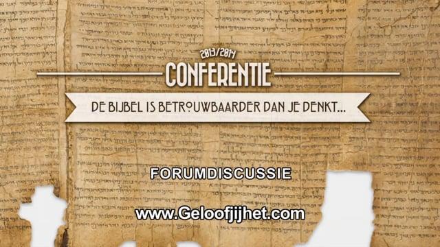 De Bijbel is betrouwbaarder dan je denkt - Forumdiscussie